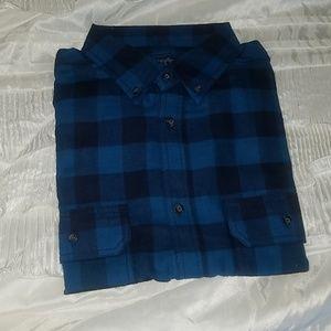 Blue Flannel long sleeve men's shirt